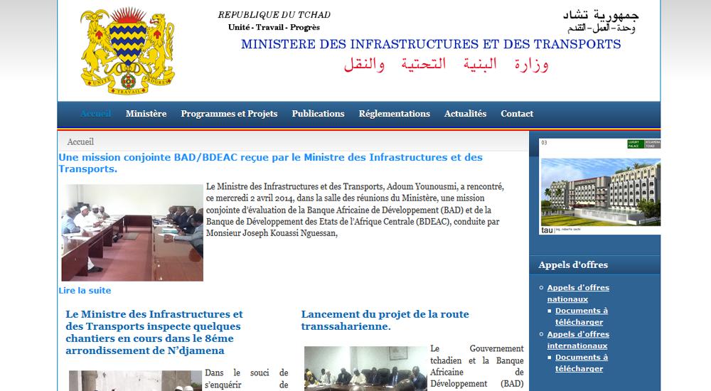 Ministère des Infrastructures, du Desanclavement et des Transports